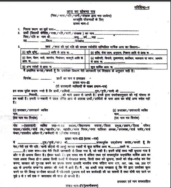 income declaration form download