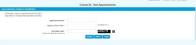 Cancel DL Test Slot
