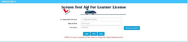 Online Learning Licence Test