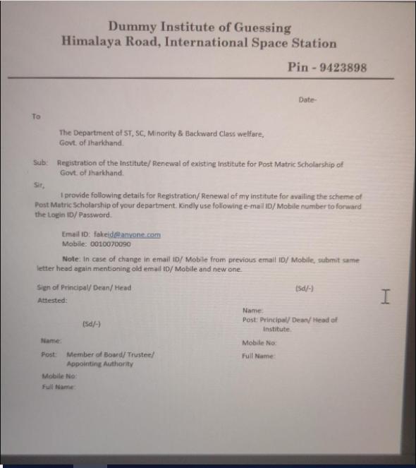 Download letter head sample format